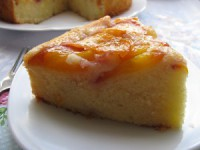 Апельсиново-яблучний пісний пиріг «Перевернутий»