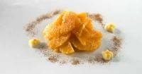 Апельсиновий десерт з корицею