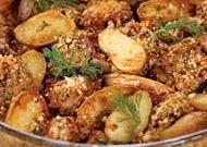 Баранина в сирній скоринці з картоплею
