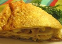 Блинчатый пиріг з капустою і грибами
