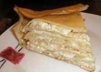 Блинчатый пиріг з сирно-лимонною начинкою