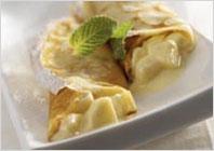 Млинці з бананом і йогуртом
