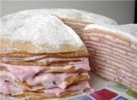 Млинцевий пиріг з фруктами і варенням