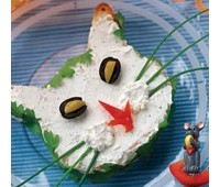 Бутерброди з шинкою і сиром «Кішки»