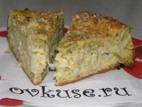 Швидкий капустяний пиріг