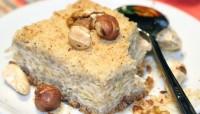 Швидкий сирно-яблучний пиріг з горішками