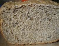 Цільнозерновий хліб з кунжутом, насінням соняшника, льону