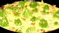 Кольорова капустка в омлеті