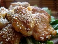 Курча по-китайськи в медово-імбирному соусі