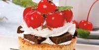 Десерт-тістечка з вишнею