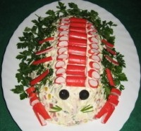 Дитячий новорічний салат