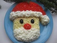 Дитячий салатик «Дідусь мороз»