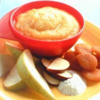 Дитяче пюре з абрикосів з рисом