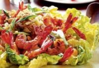 Дієтичний зелений салат з креветками