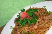«Драконий очей» - теплий салат зі свининою