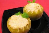 Фаршировані курячим філе яблука (фото рецепт)