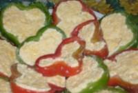 Фарширований сиром перець