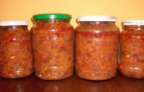Квасоля з овочевою заливкою