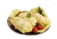 Голубці з капусти та цибулі-порею з рисом