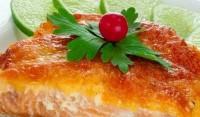 Горбуша з сиром і овочами