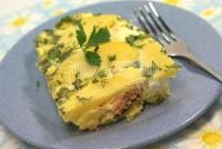 Горбуша, запечена з яйцем і картоплею