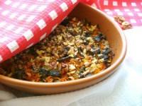 Гречаний листковий пиріг з грибами і морквою
