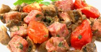 Грибне рагу з помідорами