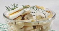 Грибний салат з макаронами