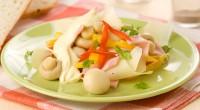 Грибний салат із солодким перцем