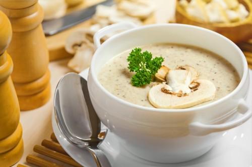 Грибний суп з печериць