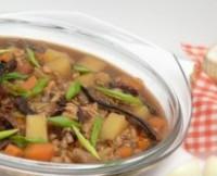 Грибний суп пісний з перловою крупою