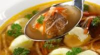 Грибний суп з галушками