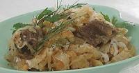 Гуляш з рисом і квашеною капустою