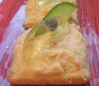Канапе з куркою, яблучним паштетом і лимонним желе