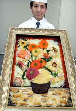 Картину Ван Гога можна ... з'їсти! Вона зроблена з суші