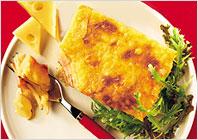 Картопля і шинка, запечені з сиром