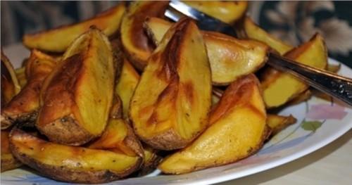 Картопля по-селянськи в аерогрилі