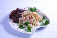 Картопляно-овочевої салат з вареними кальмарами