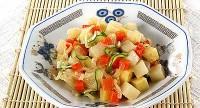 Картопляний салат з яйцями і морквою