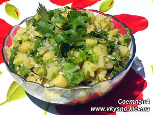 Картопляний салат з маслинами