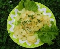 Картопляний салатик з зеленою цибулею