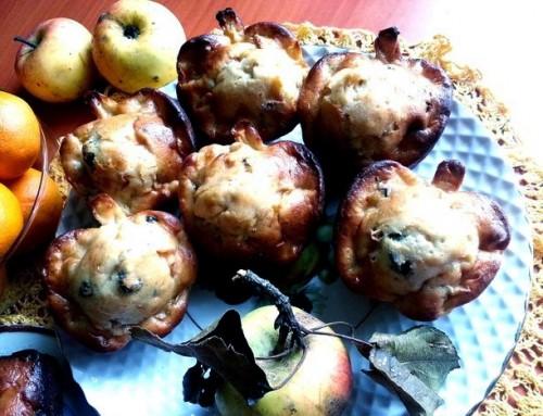 Кексики «Яблука в згущеному молоці»