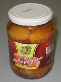 Компот з персиків з медом і ромом