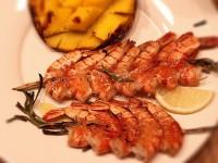 Креветки-гриль, мариновані в білому вині