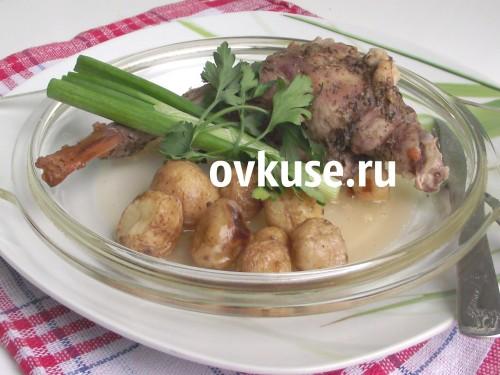 Кролик запечений, рецепт приготування з фото
