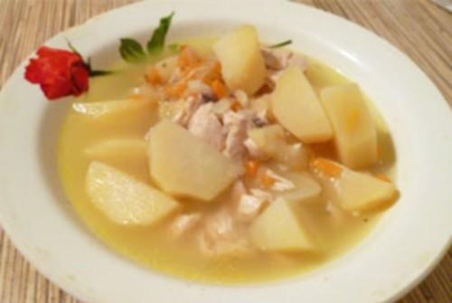 Курка з картоплею по-татарськи
