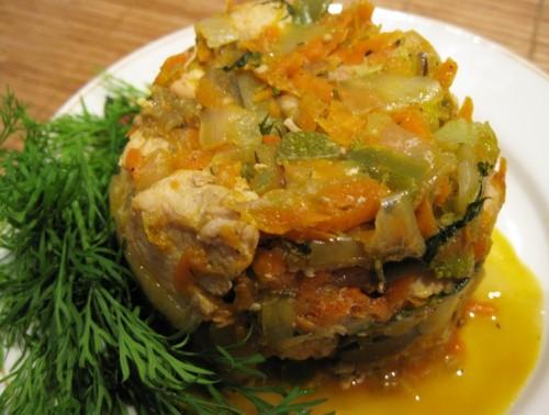 Курка з овочами по-новорічному «Яблучна»