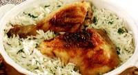 Курка зі сметаною і рисом