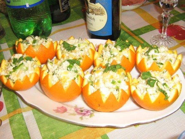 Курячий салат з апельсином