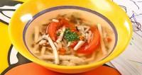 Курячий суп з коричневим рисом
